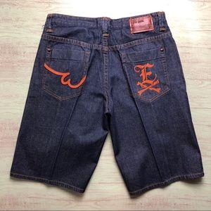 Ecko Unltd Blue Jeans Shorts Size W38